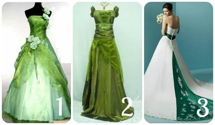 Green with wedding dress envy