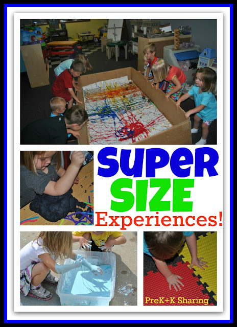 photo of: Super Size your Learning + Art Experiences for Young Children (via PreK+K Sharing) 