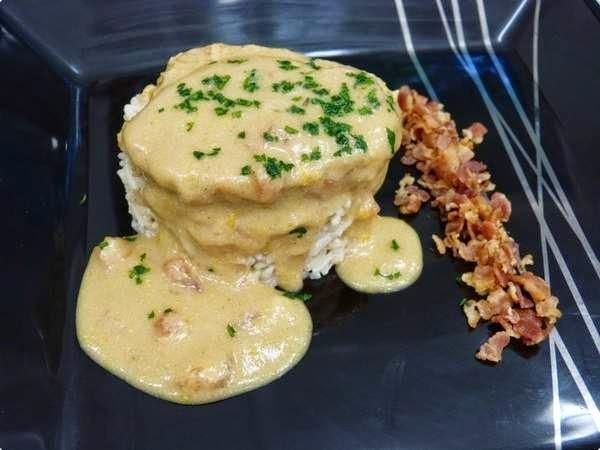 Lombo com arroz cremoso