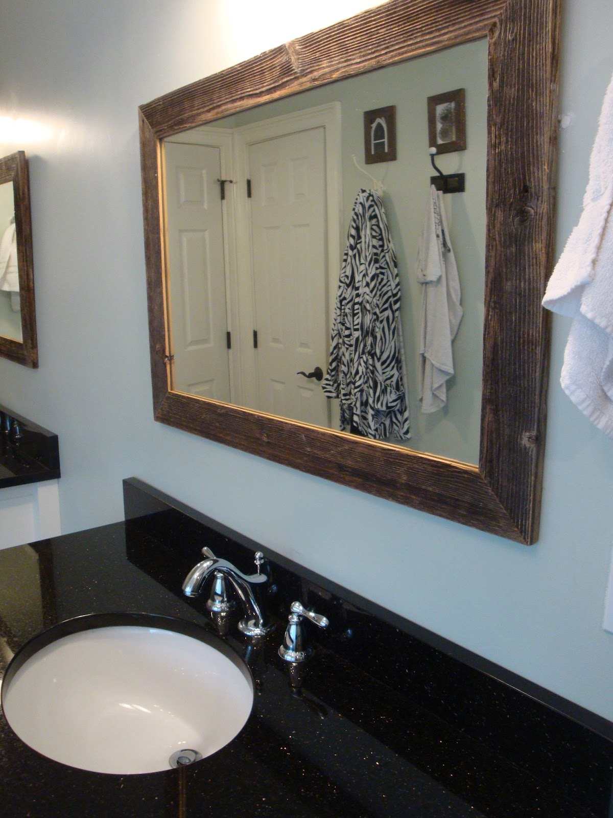 Barnwood Framed Bathroom Mirrors a little piece of heaven: some barnwood framed mirrors