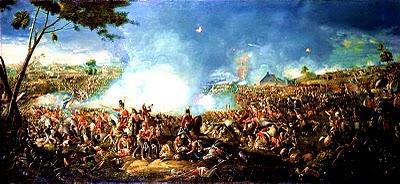 Pintura Batalla de Waterloo por William Sandler II