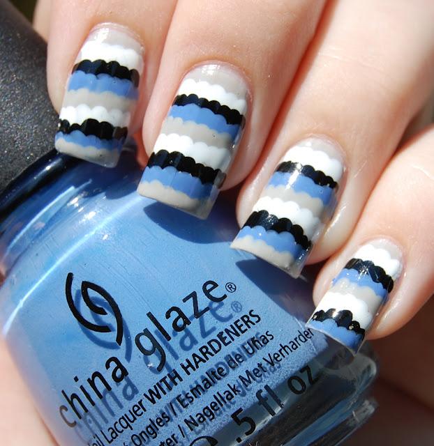 Фото ногтей в стиле хохломы