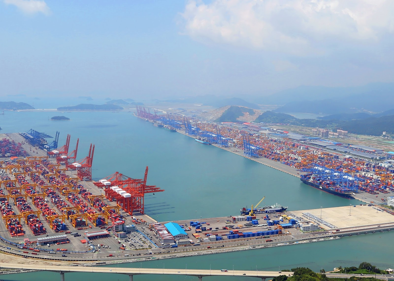 Busan Container Terminal Marine Vessel Traffic