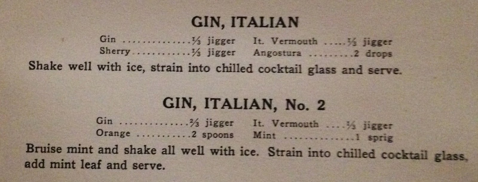 Everythinginthebar: Gin & It Cocktail
