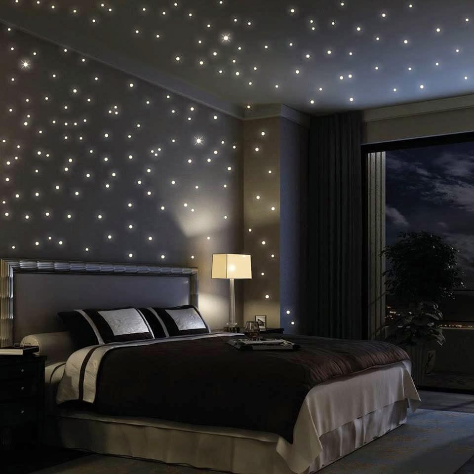 Decoración de interiores : Dormitorio con estrellas