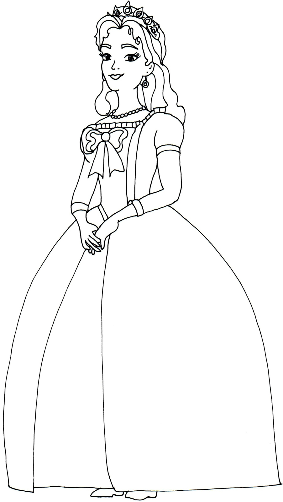 Generic princess coloring pages - Coloring Page Here Letter Connection