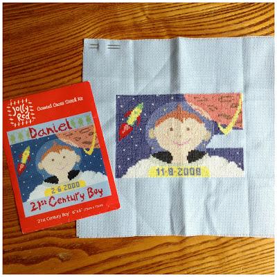 '21st Century Boy' cross stitch kit by Jolly Red
