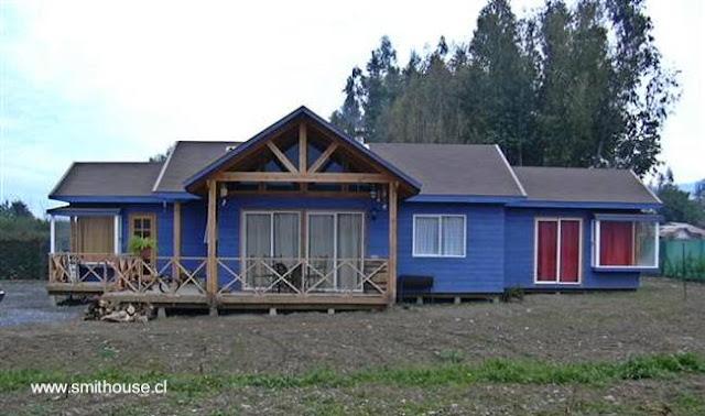 Casa residencial de madera producida en Chile