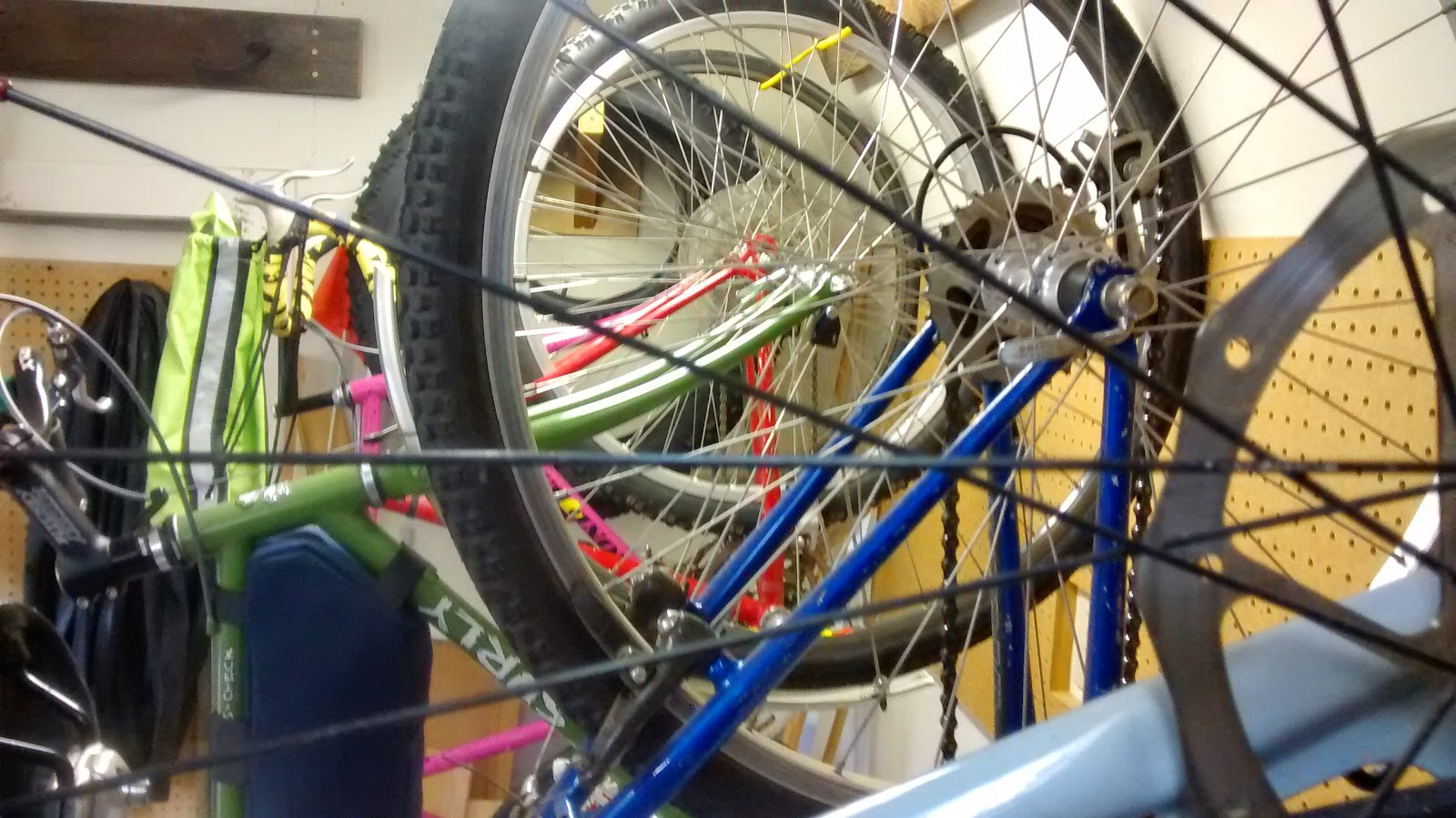 Thereu0027s always room for one more DIY hanging bike storage & Big Dummy Daddy: Thereu0027s always room for one more: DIY hanging bike ...
