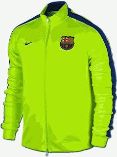 jaket bola barca hijau, tempat jual jaket barca grade ori, musim 2014/2015, celana bola barcelona, ready, harga murah