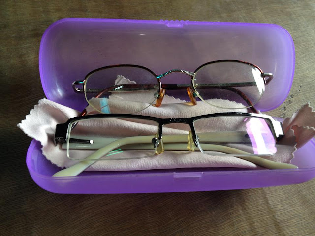 Old glasses with grades