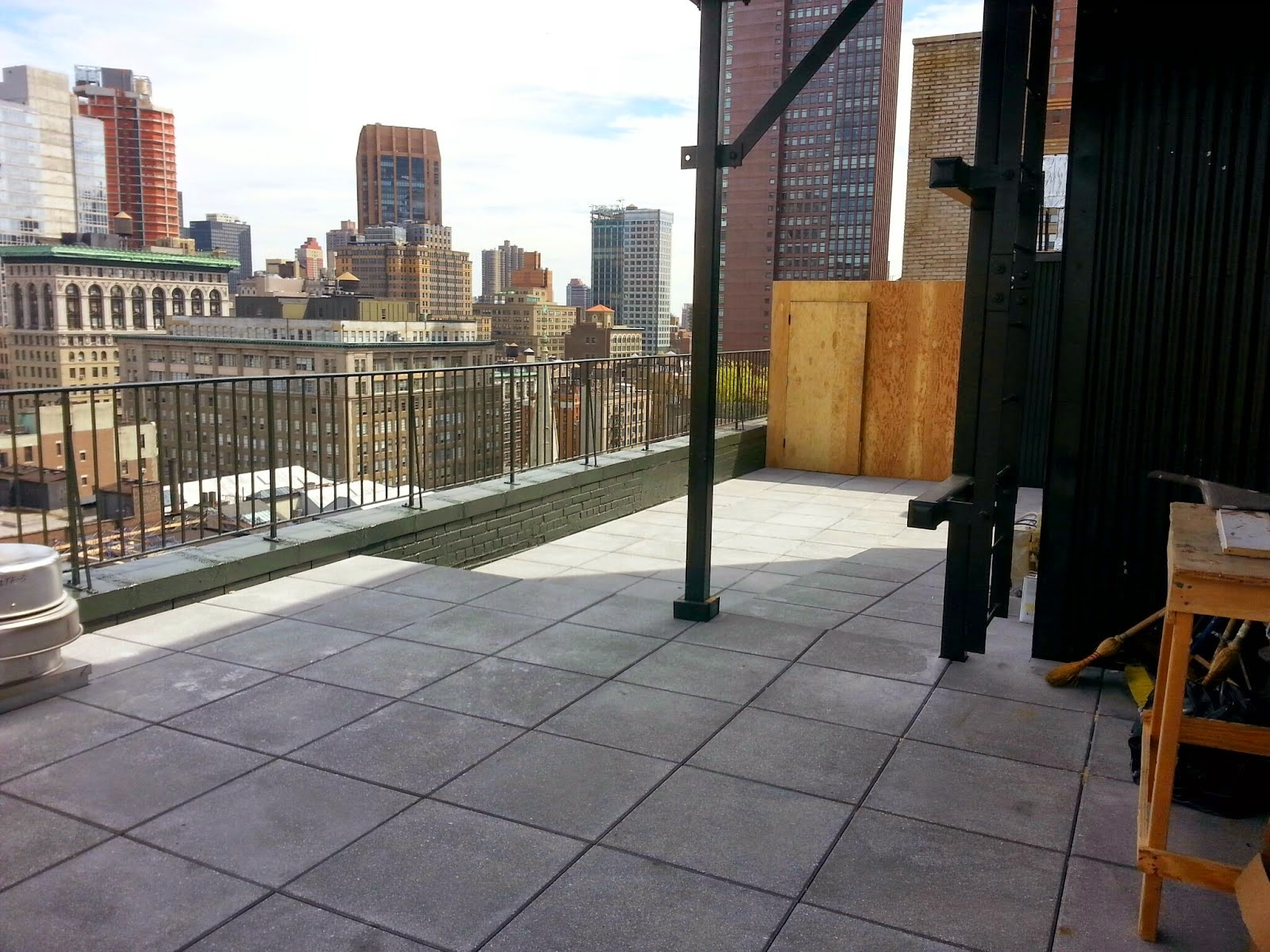Roof Top Garden before image - NYPLANTINGS