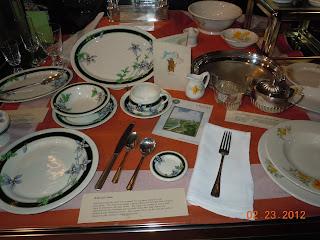 railroad dining car china and silverware