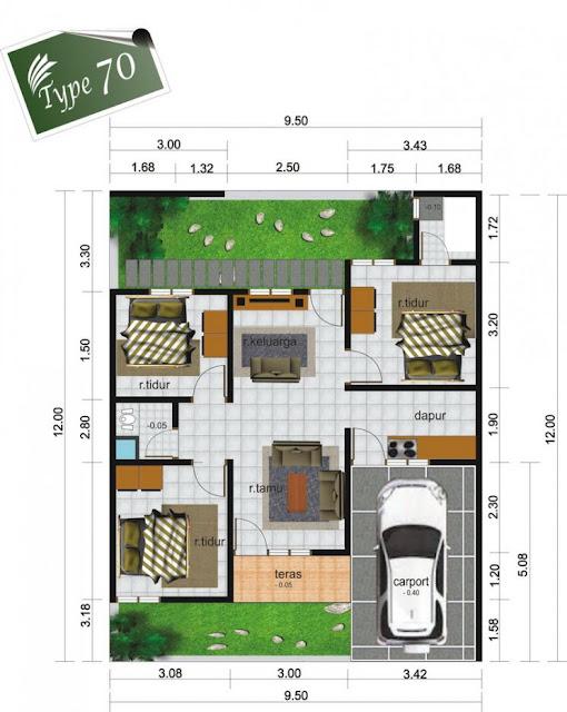Gambar Desain Rumah Modern Type 70