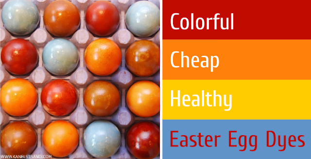 colorful, cheap, healthy easter egg dyes