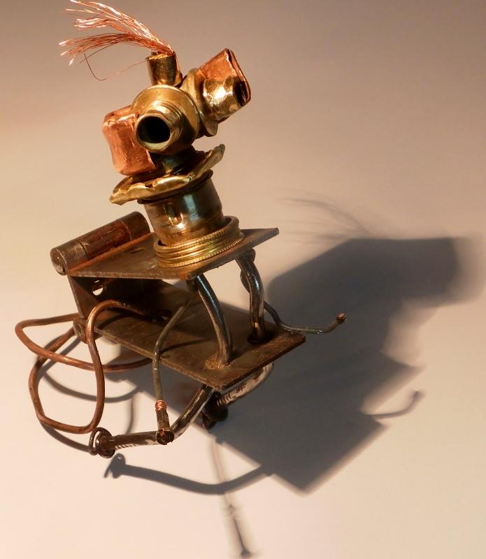 """Sculpture métal : """"Le cirque - Ernest """" recyclage artistique"""