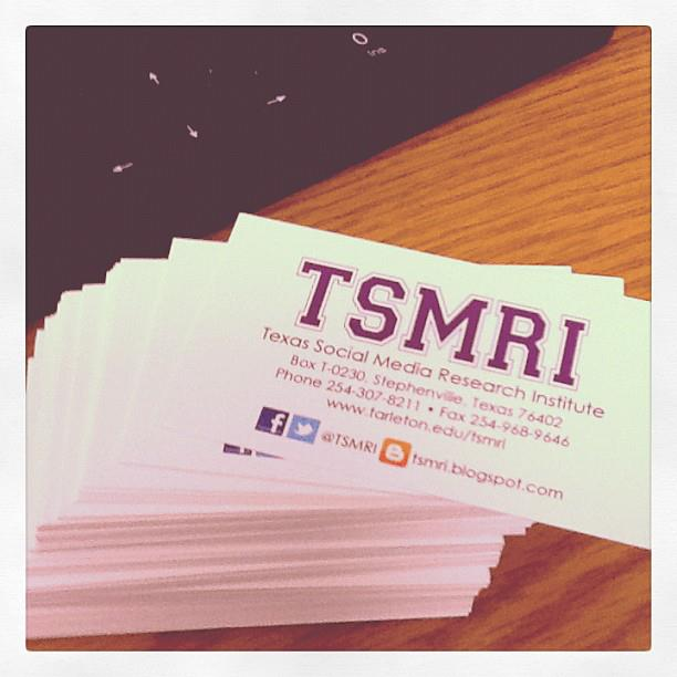 The texas social media research institute tsmri business cards instagram photo taken by tsmri reheart Choice Image
