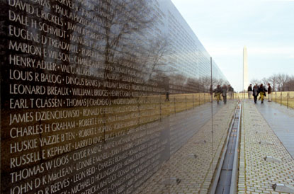 Vietnam Wall : Vietnam Veterans Memorial