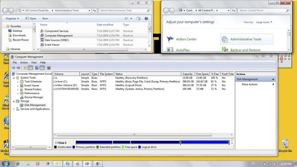 طريقة تقسيم القرص الصلب على الويندوز بدون فورمات أو برامج