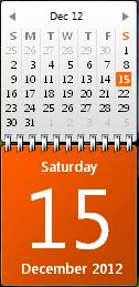 How to show make calendar in windows desktop