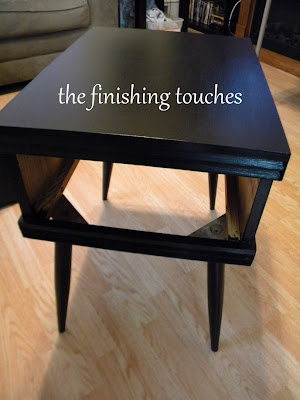 painted side table, painted furniture