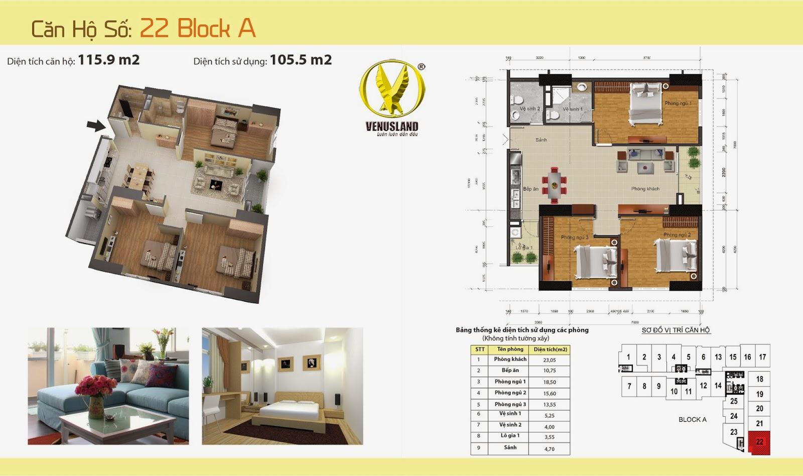 Sơ đồ mặt bằng dự án chung cư Gemek Tower Blok A