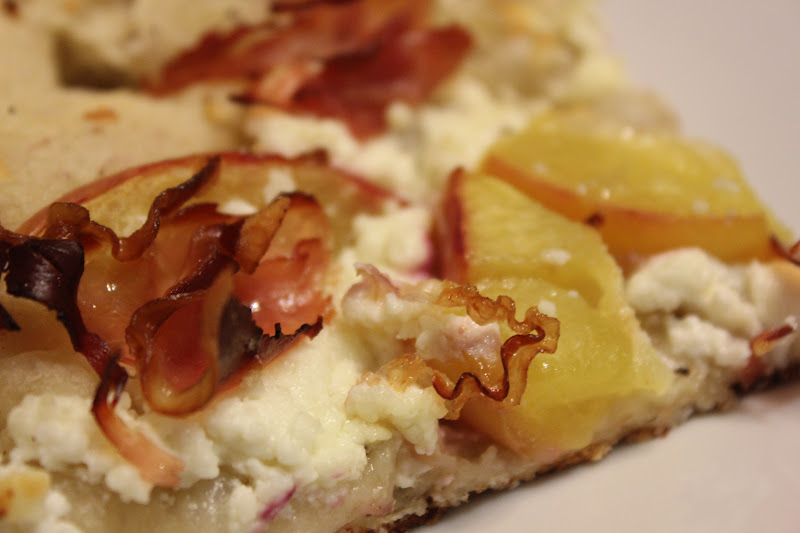 ... BUSY MOM CAFE: The Weekend Chef: Peach, Prosciutto & Goat-Cheese Pizza
