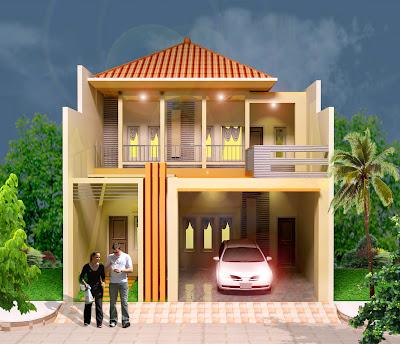 Gambar Rumah Minimalis tipe memanjang atau dalam