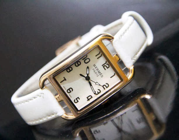 Jam Tangan Hermes 9809 Leather Putih