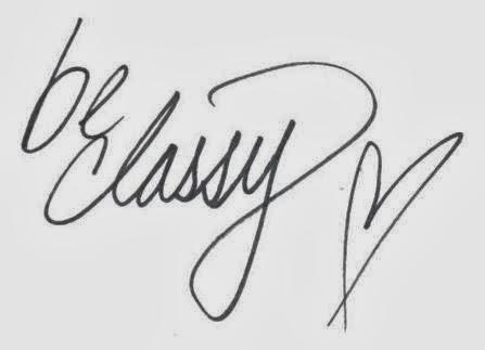Be Classy.