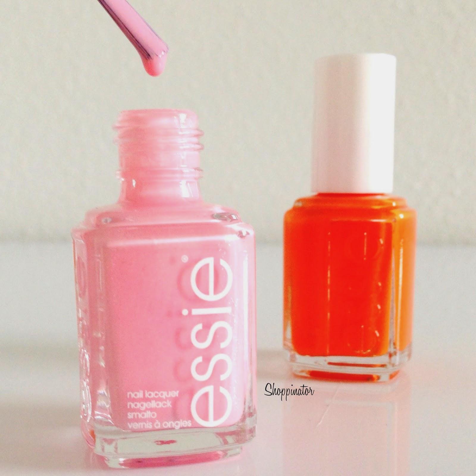 Essie – 'Pink about it'   'Fear & Desire' Swatches