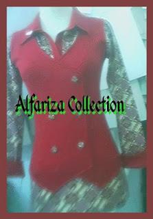 desain batik blus wanita