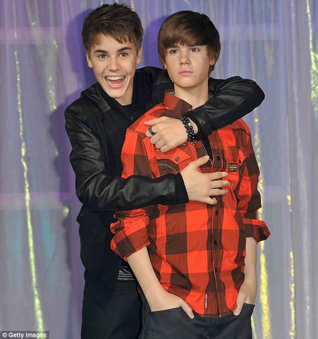 justin bieber waxwork. When Justin Bieber#39;s waxwork