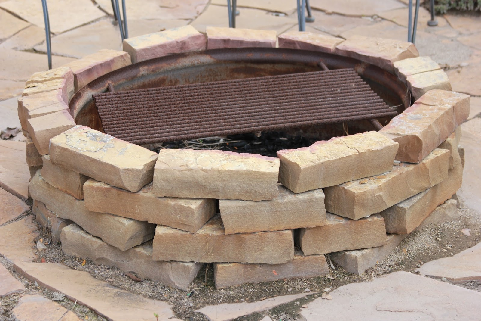 Time of our lives backyard firepit for What kind of bricks for fire pit