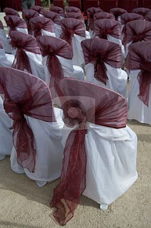 Decorated Wedding Chairs Ties
