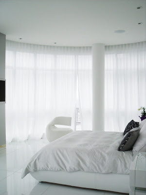 White Contemporary Bedroom