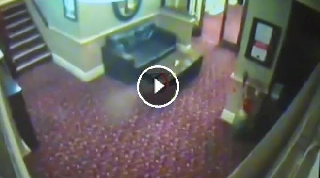 VIDEO ATERRADOR: - Cámara de seguridad capta un supuesto fantasma en un pub británico