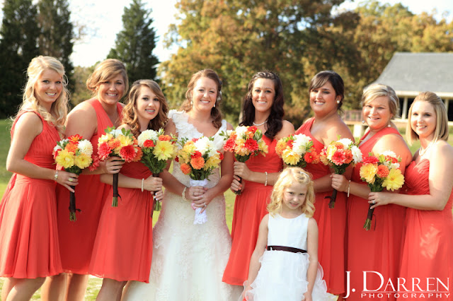 photo of fun bridesmaids at a Bermuda Run Counrty Club Wedding in Bermuda Run North Carolina