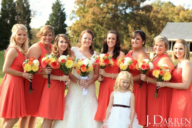 photo of fun bridesmaids at a Bermuda Run Counrty Club Wedding in Bermuda Run North Carolina
