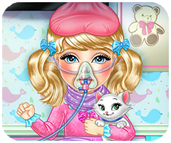 game chăm sóc em bé cảm cúm