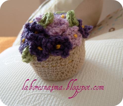 mis puntadas preferidas: maceta de flores en crochet
