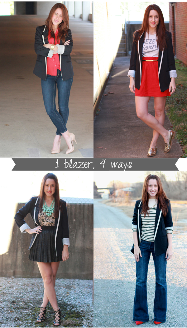 Here & Now : 1 blazer, 4 ways | #WearWallisFashion