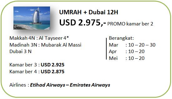 Paket Umroh Plus Dubai Promo 12 Hari