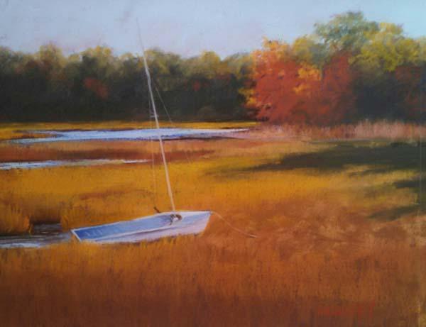 Gloucester Marsh,  $1400. 18x24 ©2017