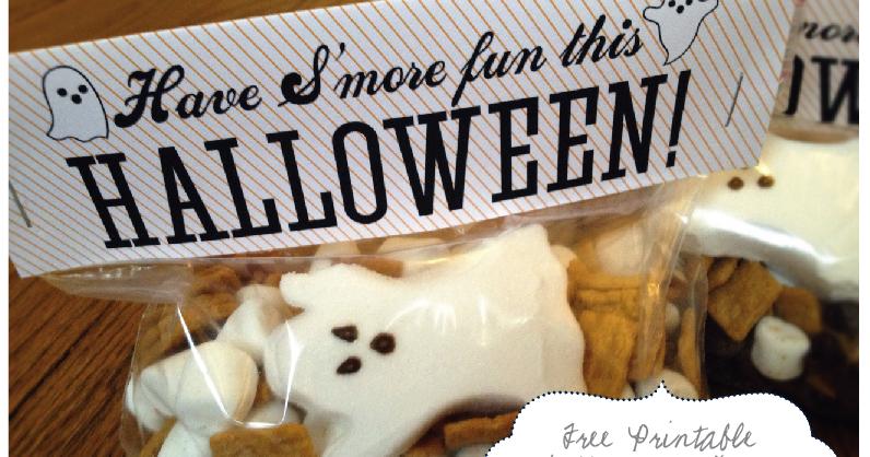 Nellie Design: Free Printable! Spooky S'more Treat