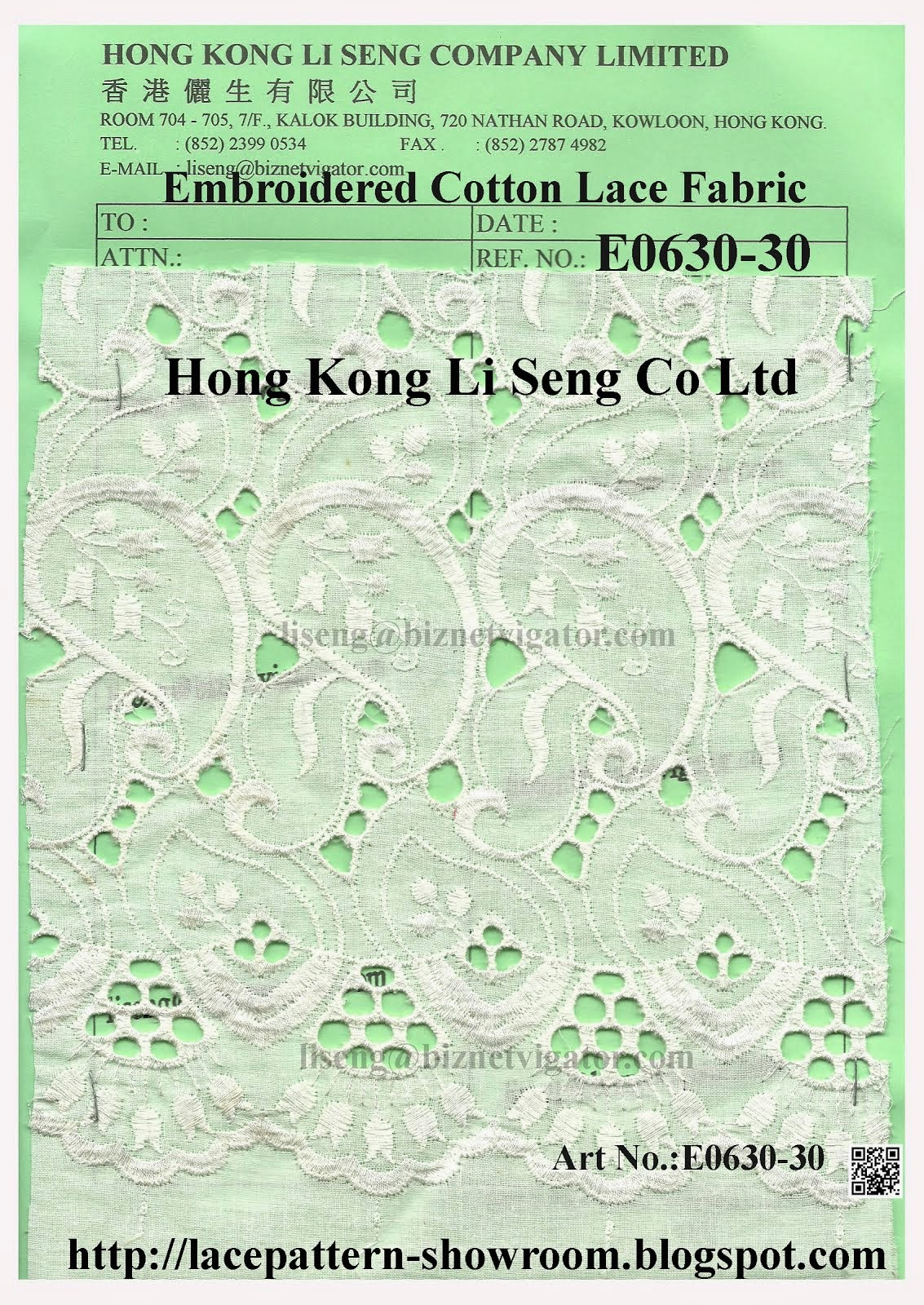 New Lace Pattern to End of Scallop Embroidered Cotton Lace Fabric Manufacturer Wholesale Supplier