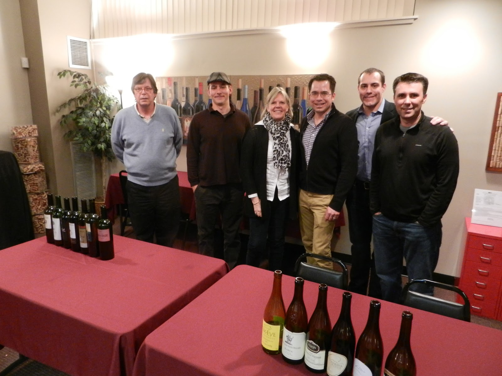 Picture: The Tasters   (from Left To Right) Christian Schiller  (schiller Wine) Isaac James Baker (Reading, Writing And Wine) Annette  Schiller (Ombiasy Wine ...