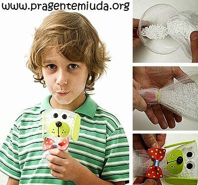 brinquedos com reciclagem de garrafa pet para o dia das crianças