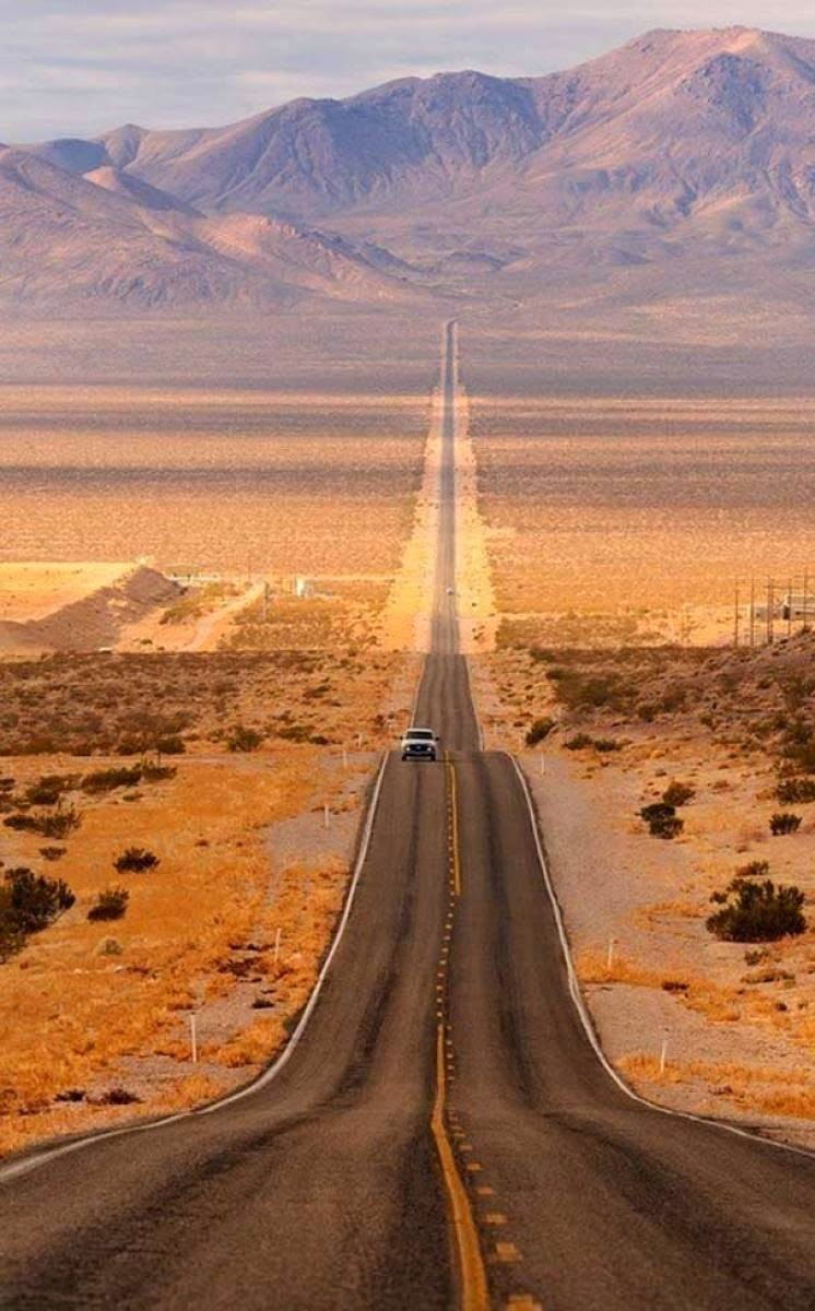 Road in Death Valley, California.