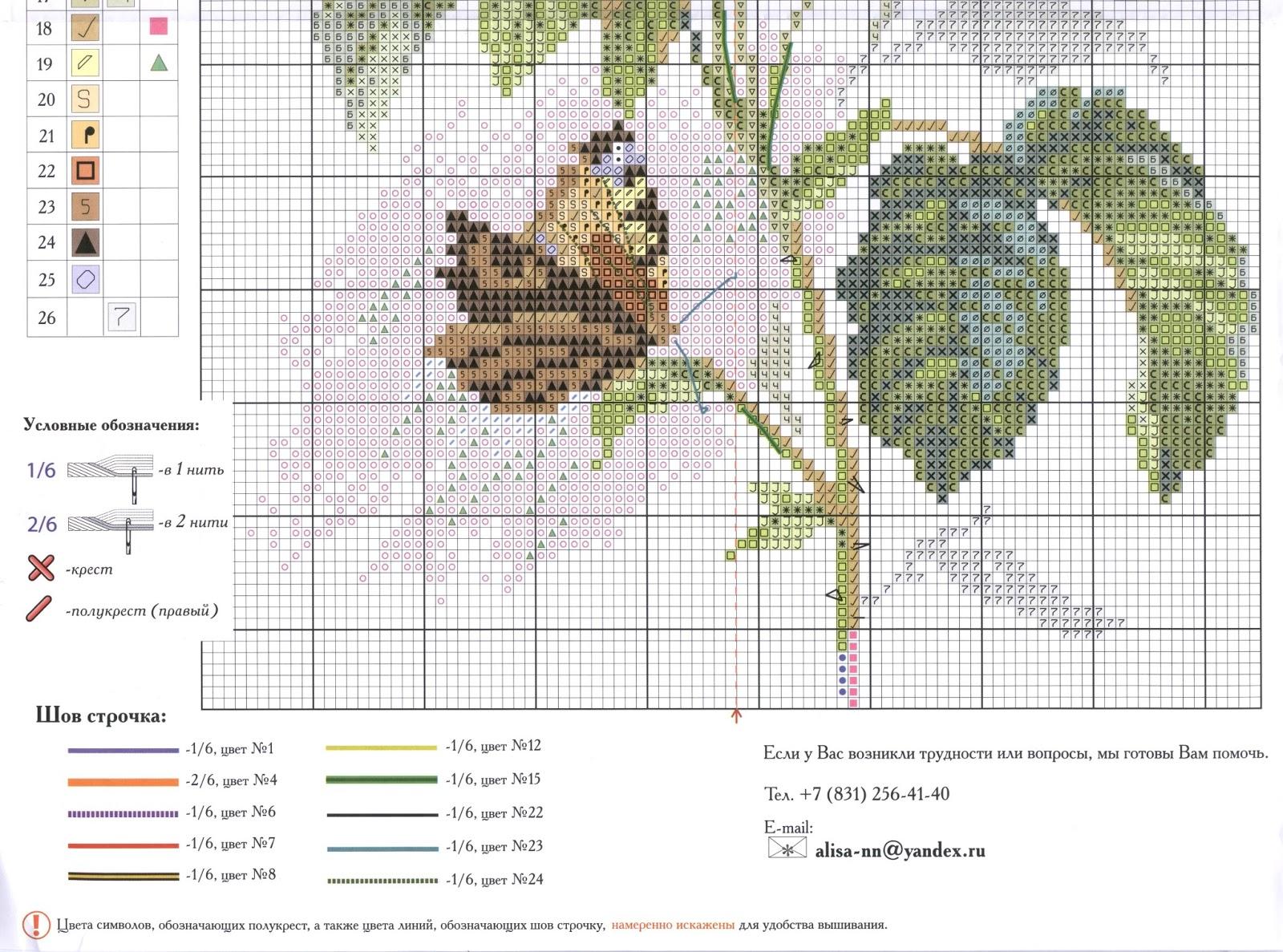 Бабочки и розы схема вышивки